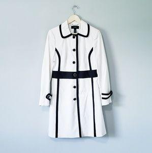 Alfani Black and White Long Coat